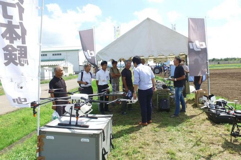 いわてICT農業祭でのドローン体験会に出展